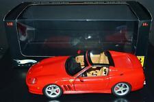 Mattel Hot Wheels Elite 1/18 Car Super America Ferrari Convertible Red #J2921