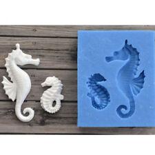 3D Sea Horse Silicone Fondant Mold Cake Decor Chocolate Sugarcraft Mould Tool