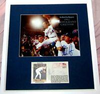 Nolan Ryan Roberto Alomar autographed signed 7th No-Hitter photo cachet framed