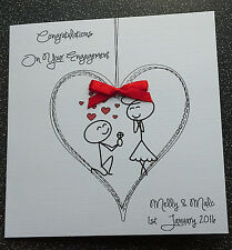 HANDMADE PERSONALISED ENGAGEMENT CARD,HUMOUR