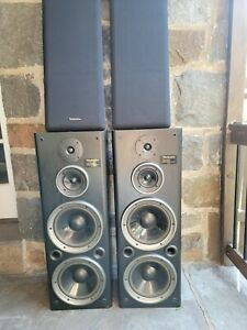 Technics SB-A33 3-Way twin woofer multi effect system 36 inches tall speakers