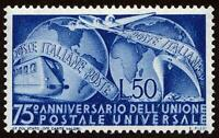 ITALY 1949 UPU SC#514 MNH CV$45.00 MAPS, GLOBE, TRAIN, PLANE, SHIP