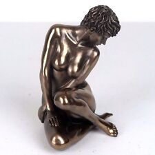 "Nude Female Bronze Figurine Miniature Statue Sculpture #278 5""H New"