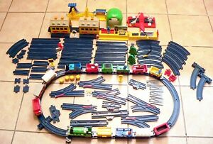 Huge 125 Piece Bundle Thomas The Tank Engine Tomy Tracks Buildings Points People