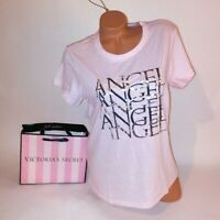 Victoria Secret T Shirt XL VS Logo Angel Light Pink Short Sleeve Tee Womens