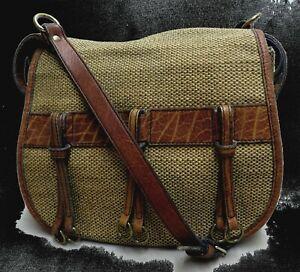 GOLDPFEIL Handtasche LEDER Caracciola JAGDTASCHE Rarität SCHULTERTASCHE Top 1754