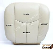 2003 2004 Chevy Tahoe Z71 Leather Seat Cover LIGHT TAN - Driver Side Bottom