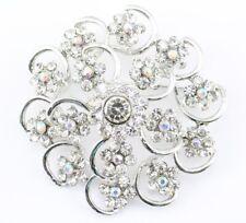 Stylish Bridal Wedding Brooch Pin Clear Fine Austrian Rhinestone Crystal