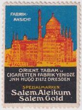 F-Ex14484 Germany Cinderella 31x43mm Poster Tobacco Salem Aleikum Cigars