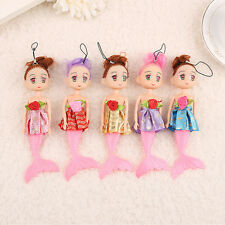 1x Cartoon Mermaid Doll Toy Decor Baby Kid  Doll with Fish Tail Phone Decor 0HK