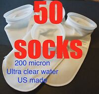 "4"" Filter Socks 4"" x 13""  Felt 200 Micron sock Aquarium Reef Wet Dry Sump bulk"