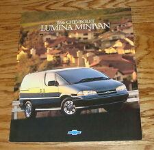 Original 1996 Chevrolet Lumina Minivan Sales Brochure 96 Chevy