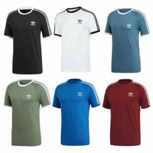 Adidas Mens T Shirt Originals 3 Stripes Short Sleeve Crew Neck Top Size S M L XL