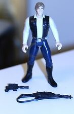 1997 Star Wars Action Figure Potf-1 Han Solo w/assault rifle/blaster gun 3.75""