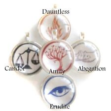 Divergent Faction (you choose) Glass Bubble Pendant with FREE Leather Necklace