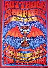 BUTTHOLE SURFERS FILLMORE POSTER F983 Original Bill Graham Johnson
