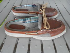 Bass Leather and Fabric Slip On Boat Mocs Flats Shoes Size 5M