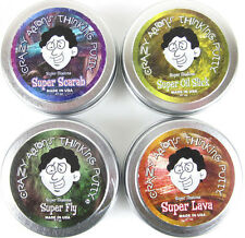 4x Crazy Aarons ILLUSIONS Putty Fidget Desk Toy Scarab,Super Fly,Oil Slick,Lava