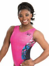 NWT E3284 Fierce Fiesta Simone Biles GK ™ gymnastics leotard Free Scrunchie CL