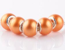 NEW 5pcs silver pearl golden spacer beads fit Charm European Bracelet DIY #A924