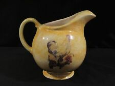 Yellow Splatter COUNTRY CHICKEN AND GRAPES Ceramic Pitcher - EUC