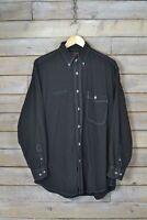 "Vintage Wrangler Negro ""Brandywine"" Camisa Denim (L)"