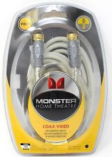New Monster Cable Home Theater F-PIN Coax Video Basic 8ft 2m - Navajo White