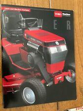 Toro Wheel Horse Sales Brochure NOS