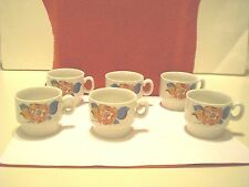 Set Of (6) Demitasse/Espresso Mini Mugs Or Cups Floral Design.New-Not Used.