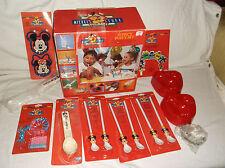 VTG DISNEY MICKEY'S STUFF FOR KIDS BIRTHDAY PARTY SUPPLY SET spoon straw mouse