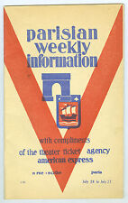 July 20-27, 1934 Parisian Weekly Information, Paris, France, 28 Pages