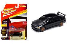 Johnny Lightning Mitsubishi Lancer Evo 04 Black with Carbon Fiber JLCP7175 1/64
