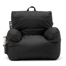 XL Big Joe Milano Bean Bag Chair Cup Comfort Kids & Adult Video Game Seat Black