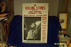 THE ROLLING STONES - ALTAMONT SPEEDWAY 12/6/69 ORIGINAL POSTER - MISSPELLED