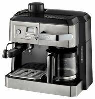 DeLonghi Espresso Machine Cappuccino Drip Coffee Maker Combo BC0330T Silver