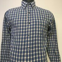 Jack Spade Bleeker St. long sleeve cotton button up in Beige Blue Plaid Size: XS