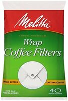 Melitta Coffee Filters for Percolators, White Wrap Around, 40-Count Filters