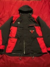 Vintage Chicago Bulls Champion Jacket Winter COAT Parka Size L Large  Rare