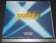 CATALOGUE 1978-1979 SOLIDO METAL DIE-CAST 1/43 SPORT MILITAIRE TONERGAM TOURISME
