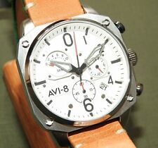 AVI-8 HAWKER HUNTER QUARTZ DATE CHRONOGRAPH WRIST WATCH Pilot Flight AV-4052-01