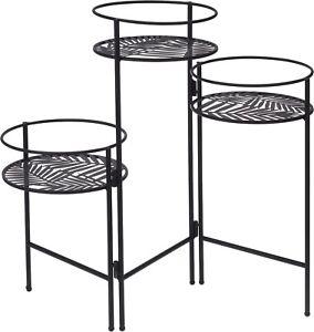 3 Tier Metal Plant Pot Stand Indoor Outdoor Garden Planter Display Holder Shelf