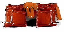 IIT 91112 7 Pocket Leather Tool Belt Polyweb With Quick Release Buckle.