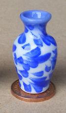 1:12 Single Blue & White Vase Dolls House Miniature Ceramic Accessory B15