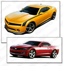 Chevrolet Camaro 2010-2015 Side Hockey Throwback Stripes Decals (Choose Color)