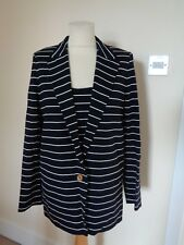 WEILL BLACK AND WHITE STRIPE JACKET AND MATCHING CAMI TOP