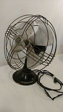 "Vintage General Electric GE 12"" Four 4 Blade Desk Fan 3 Speed bad cord UNTESTED"