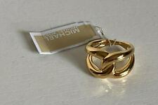 NEW MICHAEL KORS MK GOLD-TONE TWISTED KNOT RING $65 SALE