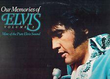MFD IN CANADA TAN LABEL AQL1-3448 ROCK LP ELVIS PRESLEY : OUR MEMORIES VOL 2