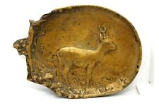 Antique Bronze Berndorf Ashtray 19 Century with Deer