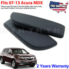 Fits 2007-2013 Acura MDX Leather Center Console Lid Armrest Cover Skin Black